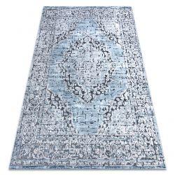 Килим Structural SIERRA G8076 плоски тъкани син / сив - розетка