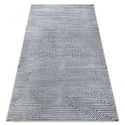 Килим Structural SIERRA G5013 плоски тъкани сив - зигзаг, етнически