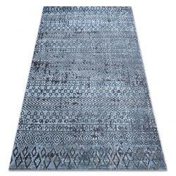 Килим Structural SIERRA G6042 плоски тъкани син - геометричен, етнически