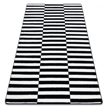 Килим SKETCH – F132 черно/бяло – ивици