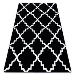 Килим SKETCH – F343 черно/бяло мароканска детелина
