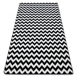 Килим SKETCH – F561 бяло/черно – зигзаг