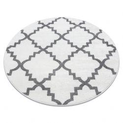 Килим SKETCH кръг – F343 бяло/сиво