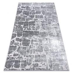 модерен килим MEFE 6184 Павета тухла structural две нива на руно тъмно сив