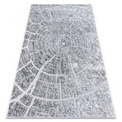 модерен килим MEFE 6185 Дърво - structural две нива на руно сив