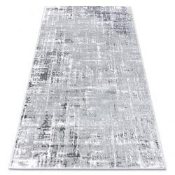 модерен килим MEFE 8722 линии vintage - structural две нива на руно сив / бял