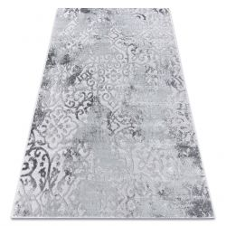 модерен килим MEFE 8724 украшение vintage - structural две нива на руно сив