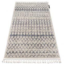Килим BERBER AGADIR G0522 берберски, марокански ресни екрю/сиво шаги