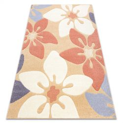 Килим FEEL 1602/17911 цветя бежов/теракота/виолетов