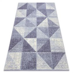 Килим FEEL 5672/17944 триъгълници бежов/виолетов