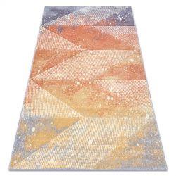 Килим FEEL 5756/17944 диаманти бежов/теракота/виолетов