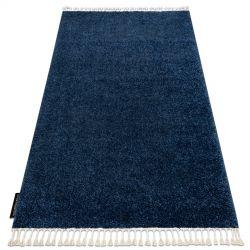 Килим BERBER 9000 тъмно синьо шаги ресни