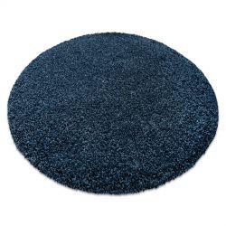 Модерен килим за пране ILDO 71181090 кръг тъмно синьо