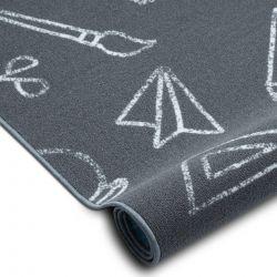 мокети килим за деца SCHOOL училище сив