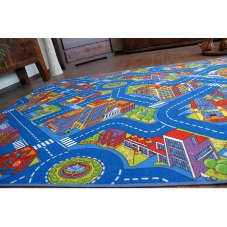 мокети килим улици голям град синьо