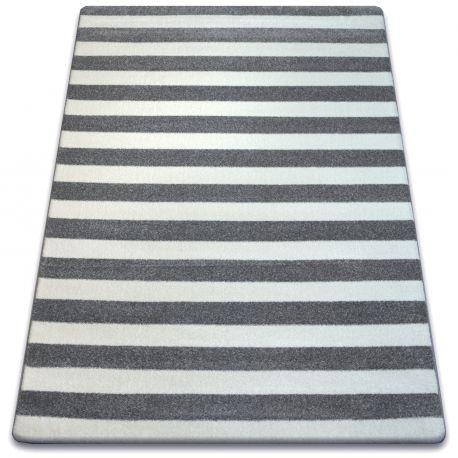 Килим SKETCH – F758 бяло/сиво – райета