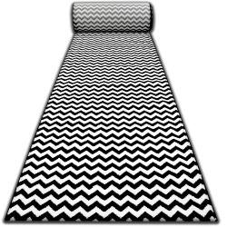 килим бегач SKETCH F561 черно/екрю- зигзаг