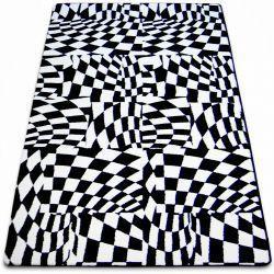 Килим SKETCH – F756 бяло/черно – кариран