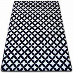 Килим SKETCH – F757 бяло/черно – диамант