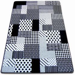 Килим SKETCH – F760 бяло/черно – кариран