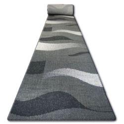 килим бегач SIZAL FLOORLUX модел 20212 черно/сребро