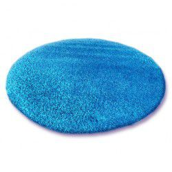 Килим кръг SHAGGY 5cm синьо