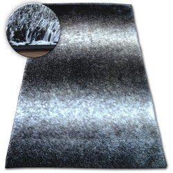Килим Shaggy SPACE 3D B315 черно/сиво
