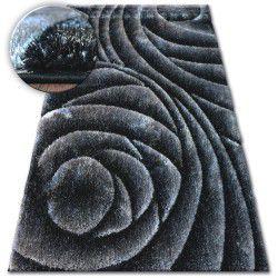 Килим Shaggy SPACE 3D B217 тъмносиво черно