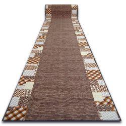 килим бегач противоплъзгаща основа CARO кафяво