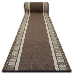 дебел килим бегач противоплъзгаща основа TRENDY кафяво